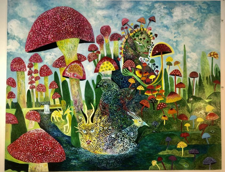 Mushroom Queen surrounded by her army , Magic Mushrooms